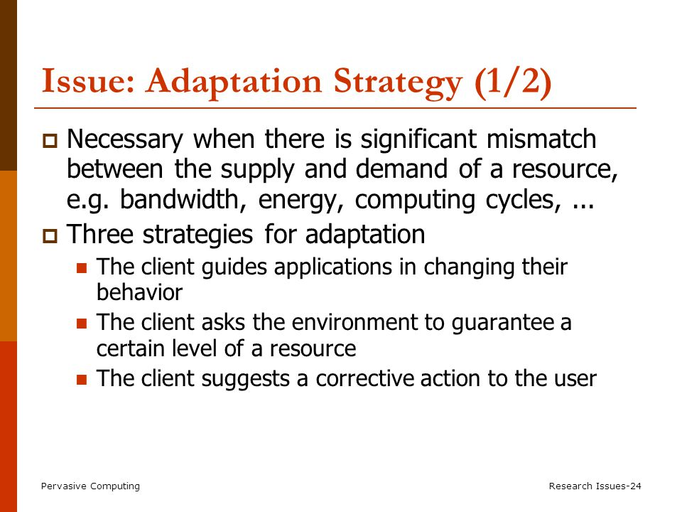 Adaptation Strategy (2/2)