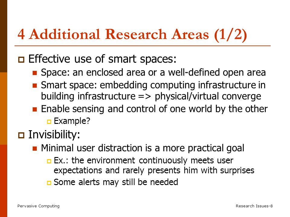 4 Additional Research Areas (2/2)