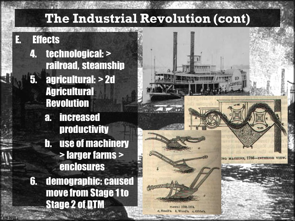 The Industrial Revolution (cont)