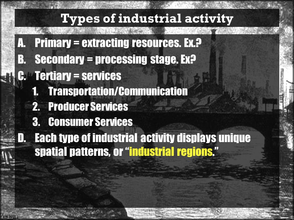 Types of industrial activity