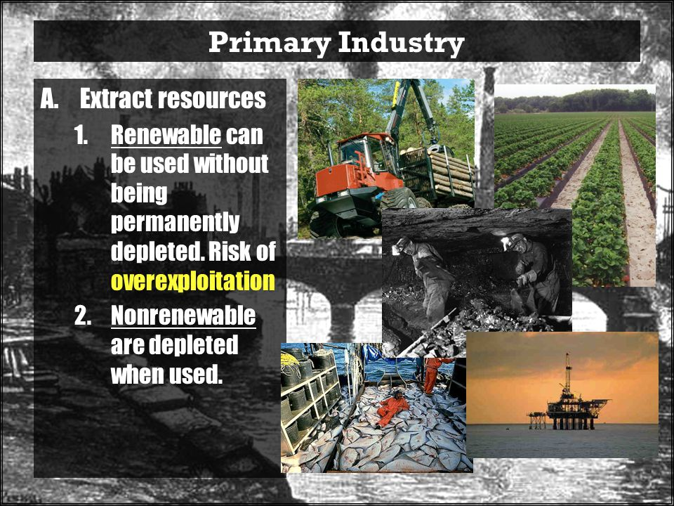 Primary Industry Extract resources