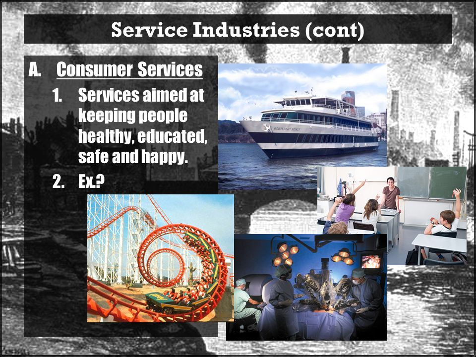 Service Industries (cont)