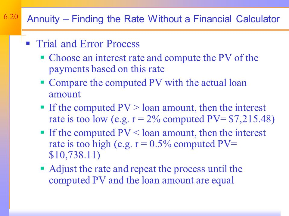 Future Values for Annuities – Example 1