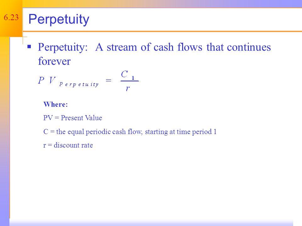 Perpetuity – Example 1