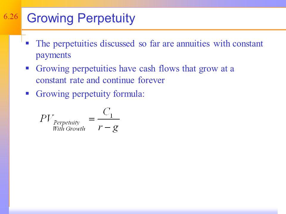 Growing Perpetuity – Example 1
