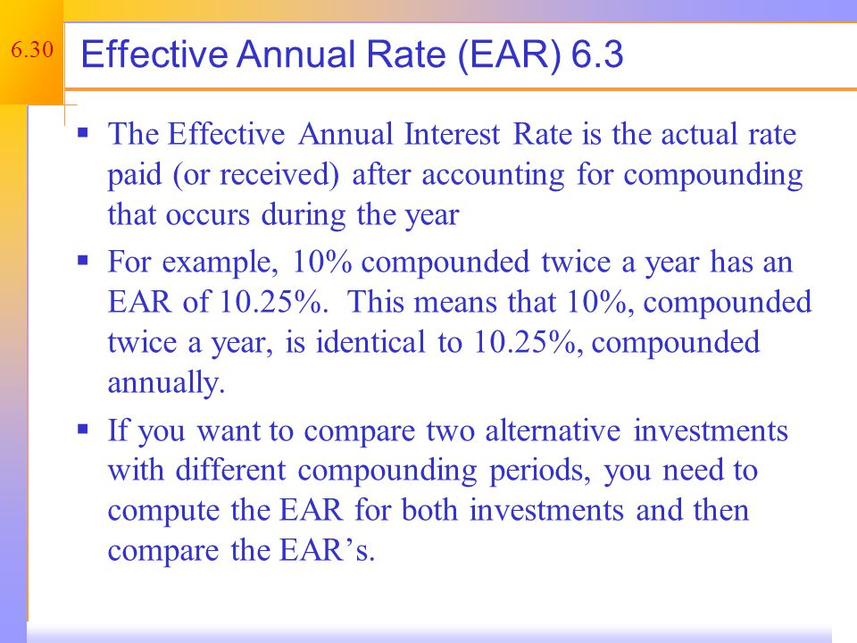 Annual Percentage Rate (Nominal Rate)