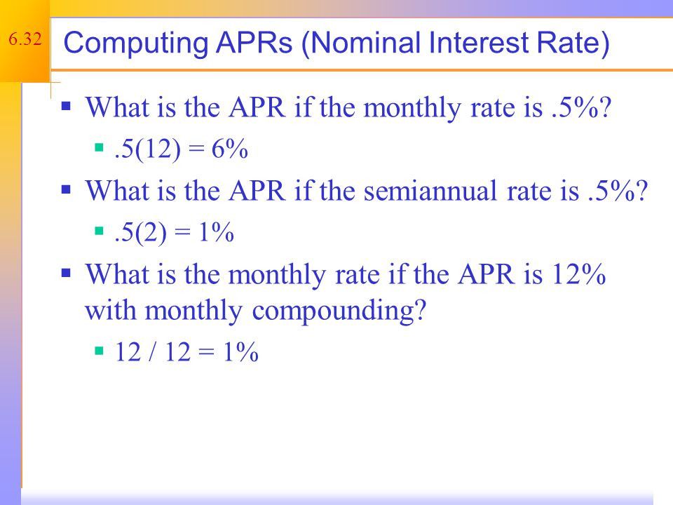 Things to Remember You ALWAYS need to make sure that the compounding period and the payment period match.