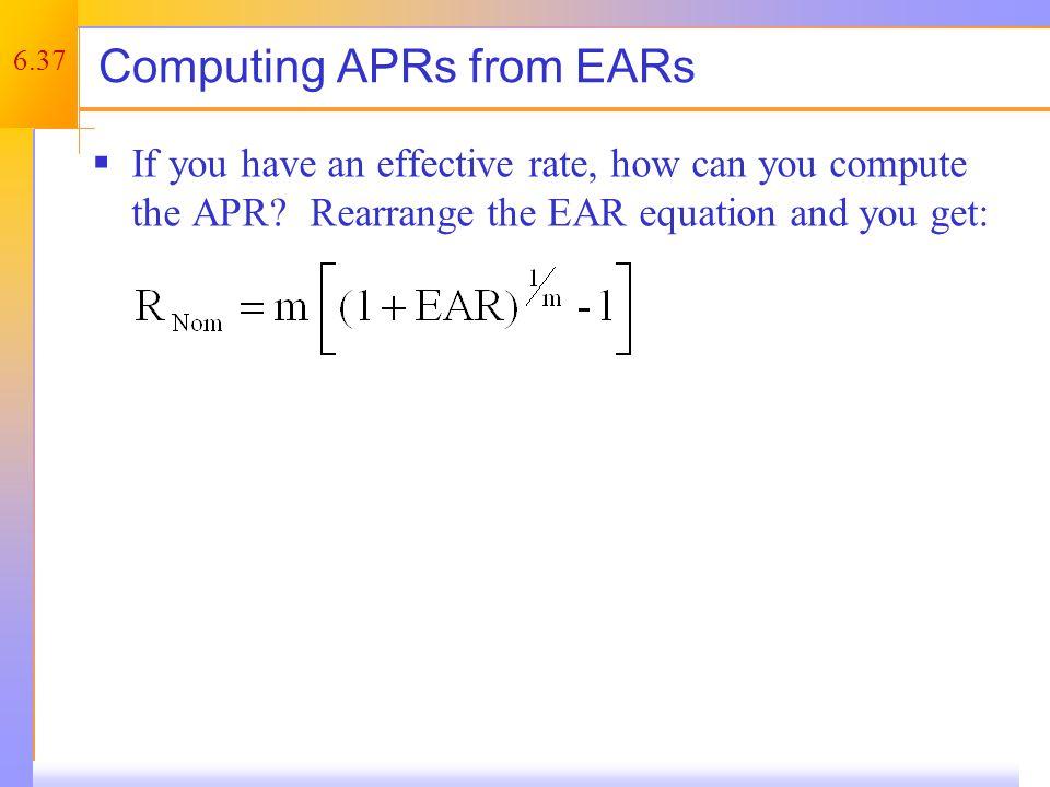 APR – Example 1
