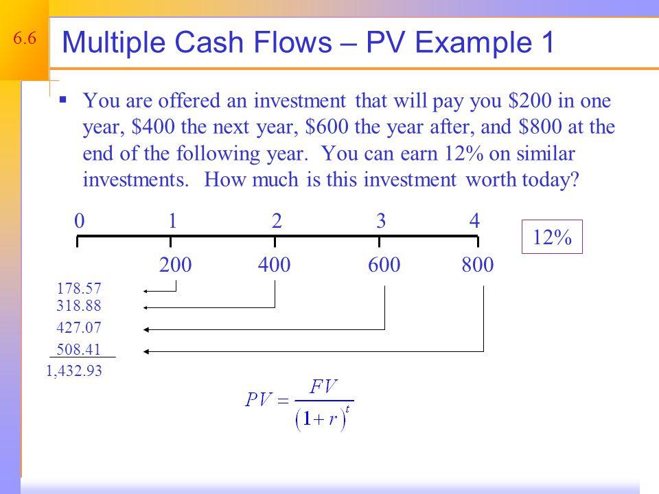 Uneven Cash Flows – Using the Calculator
