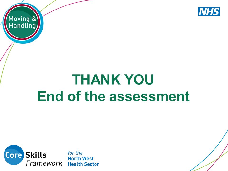 THANK YOU End of the assessment