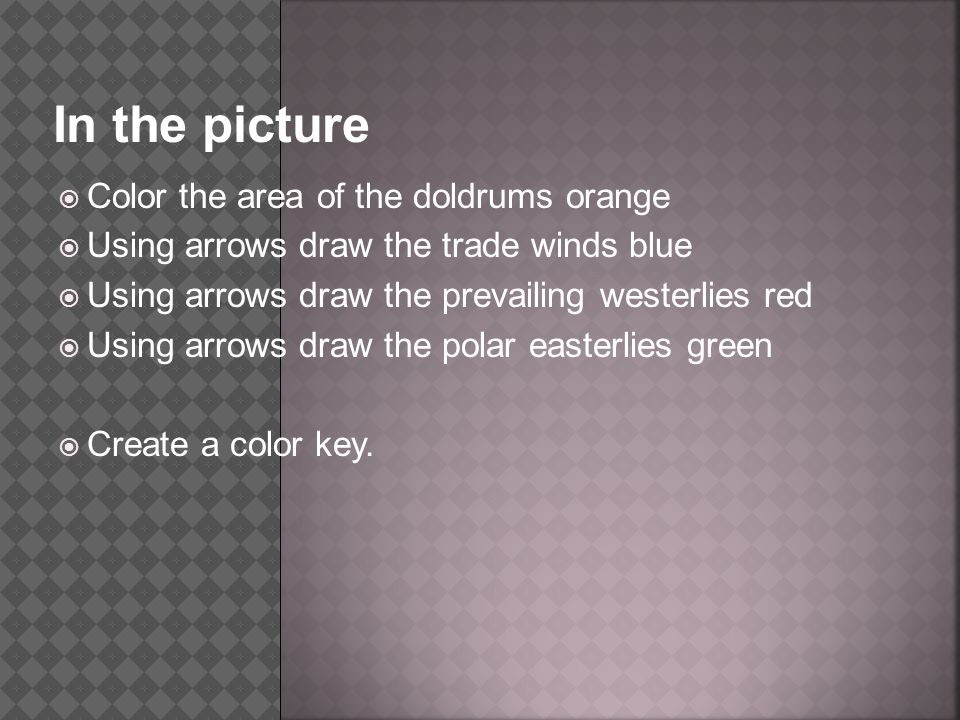 In the picture Color the area of the doldrums orange
