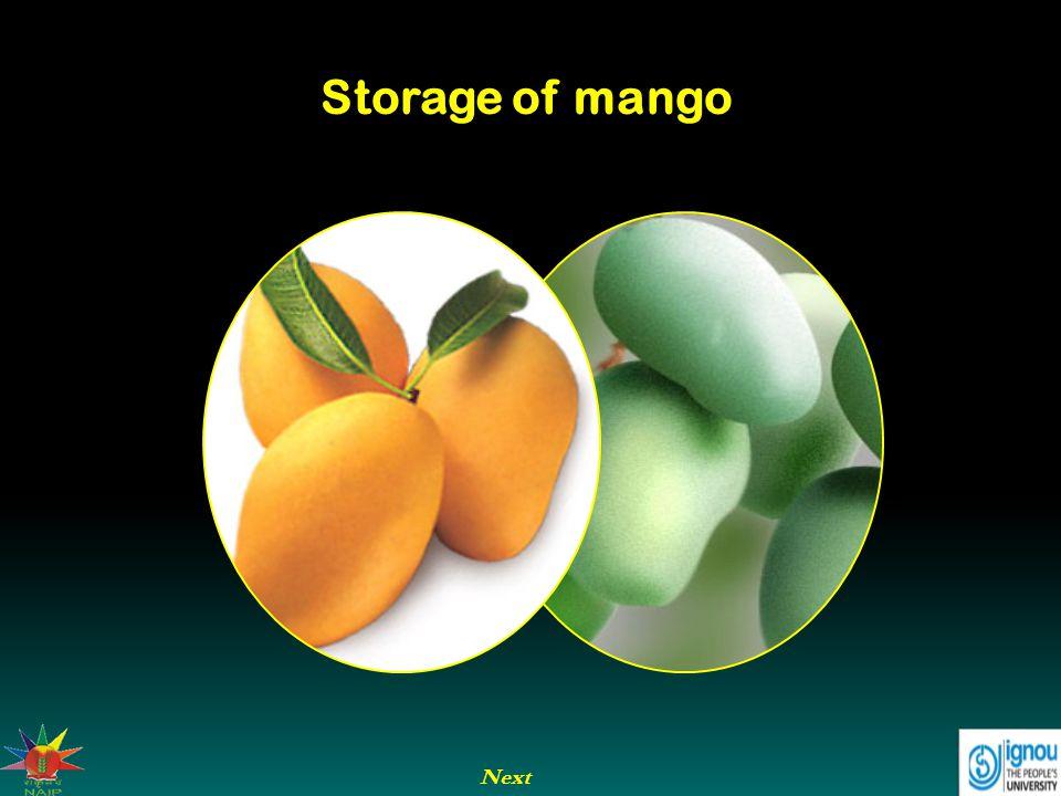 Storage of mango Next