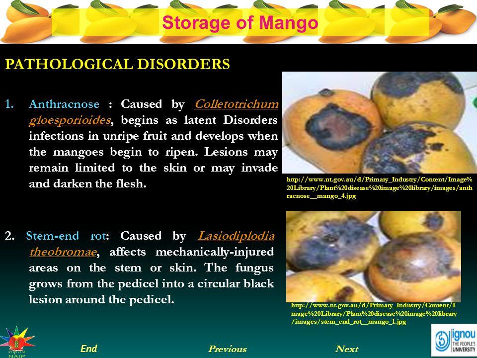 PATHOLOGICAL DISORDERS