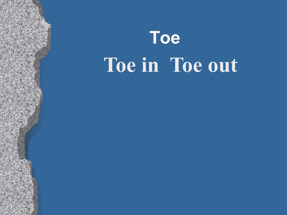 Toe Toe in Toe out