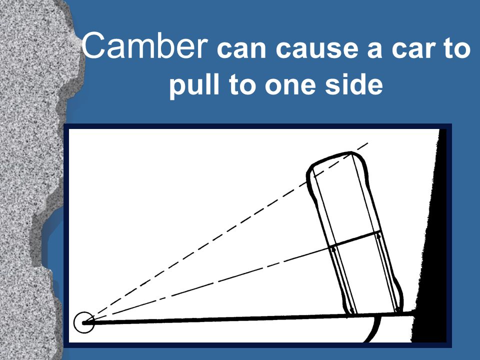 Camber can cause a car to pull to one side
