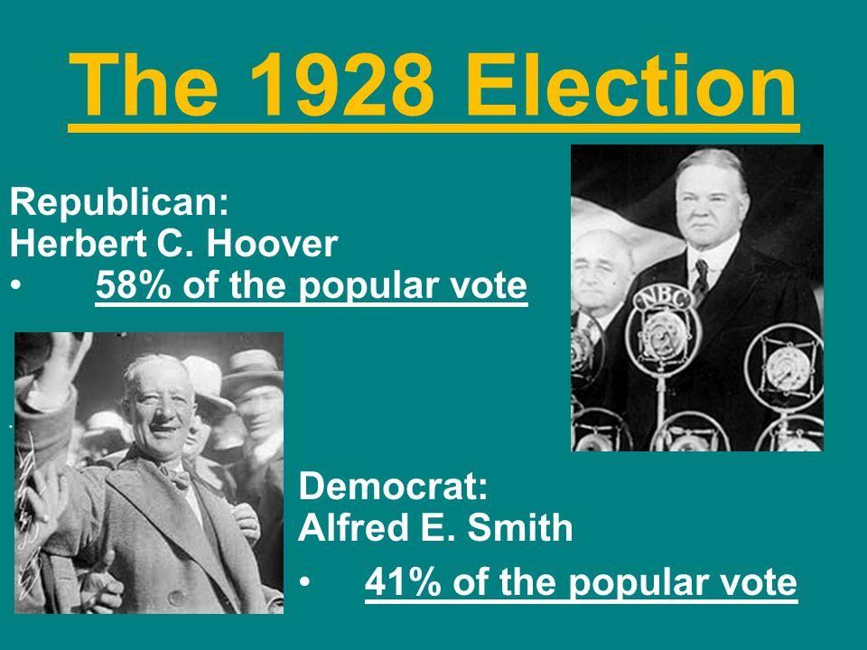 The 1928 Election Republican: Herbert C. Hoover