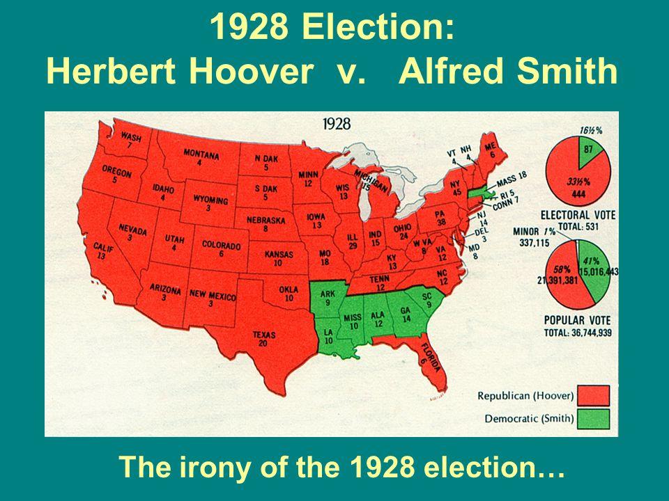1928 Election: Herbert Hoover v. Alfred Smith
