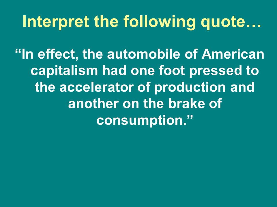 Interpret the following quote…