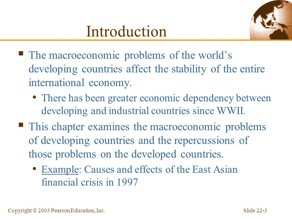 Introduction The macroeconomic problems of the world's developing countries affect the stability of the entire international economy.