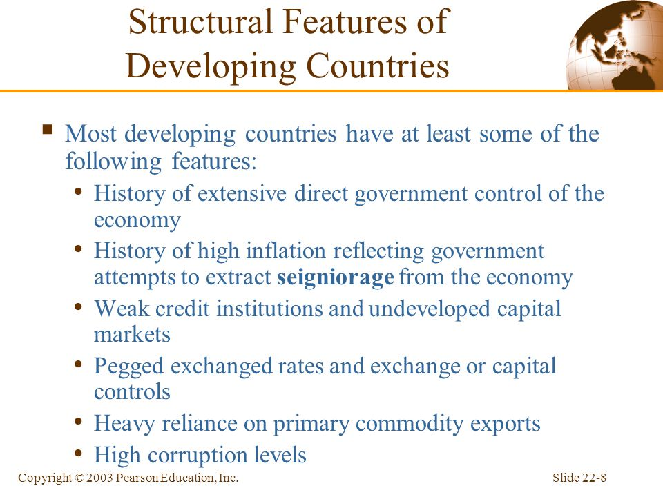 Structural Features of Developing Countries