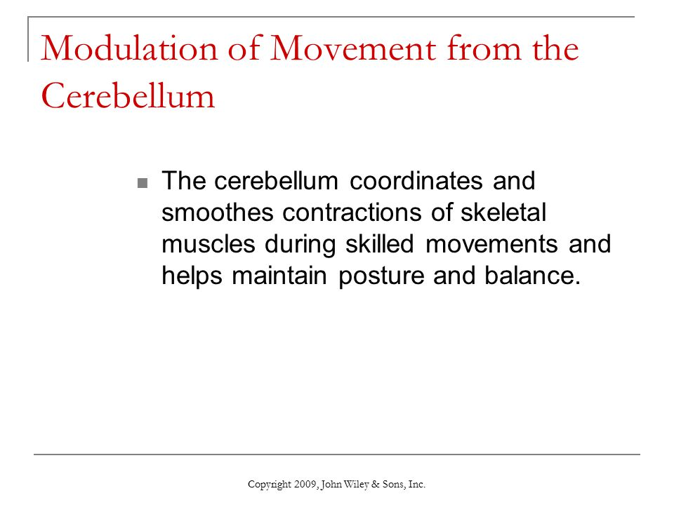 Modulation of Movement from the Cerebellum
