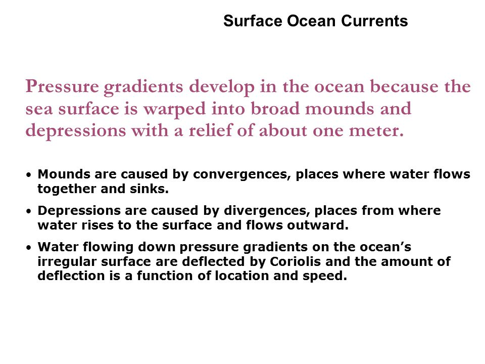 6-2 Surface Ocean Currents.