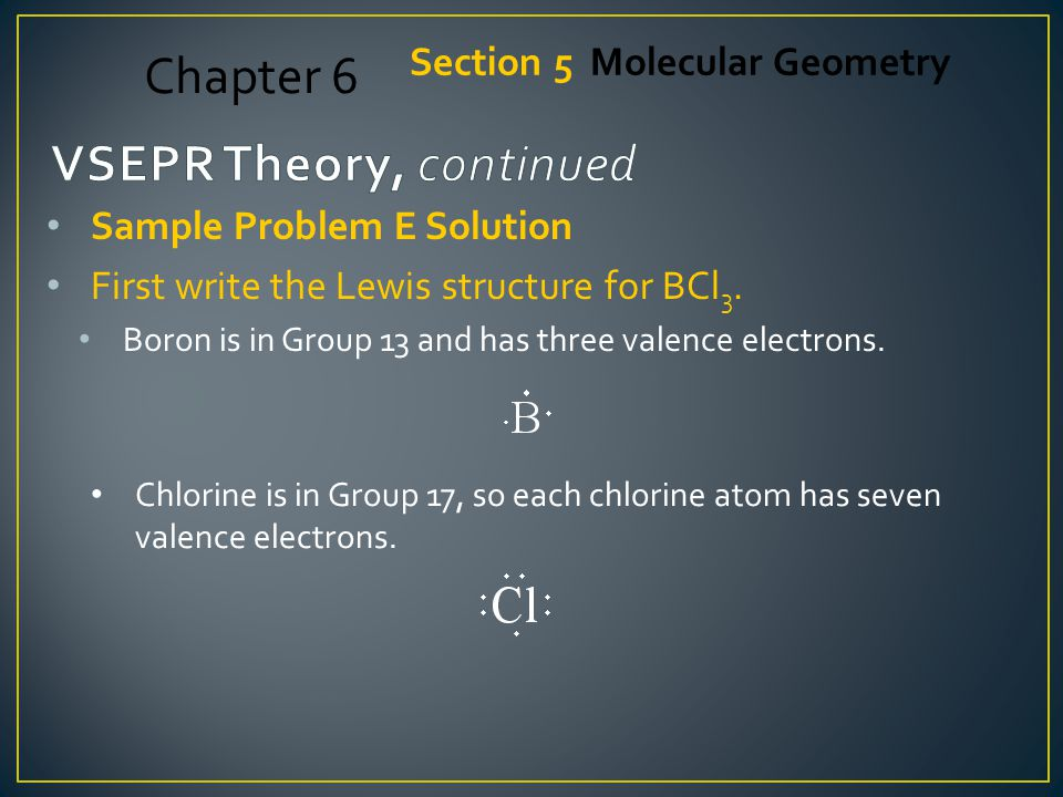 VSEPR Theory, continued