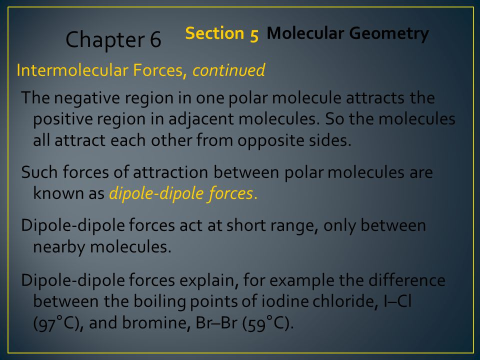 Chapter 6 Section 5 Molecular Geometry