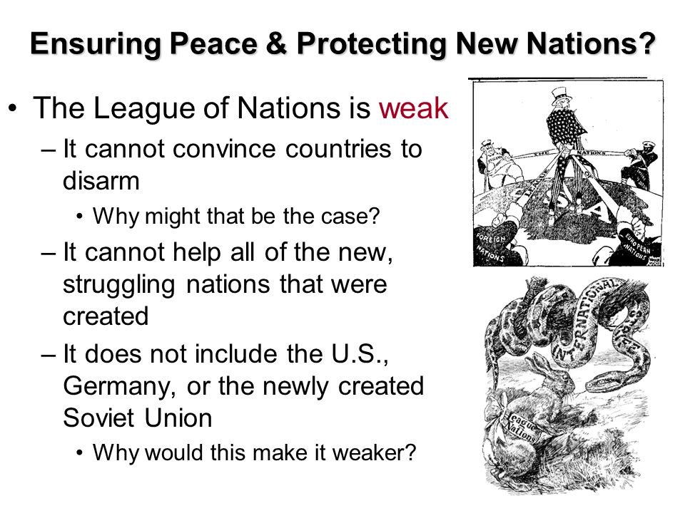 Ensuring Peace & Protecting New Nations