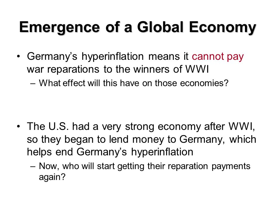 Emergence of a Global Economy