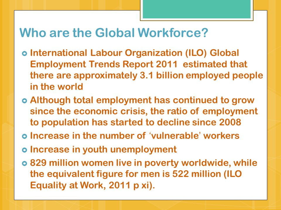 Who are the Global Workforce