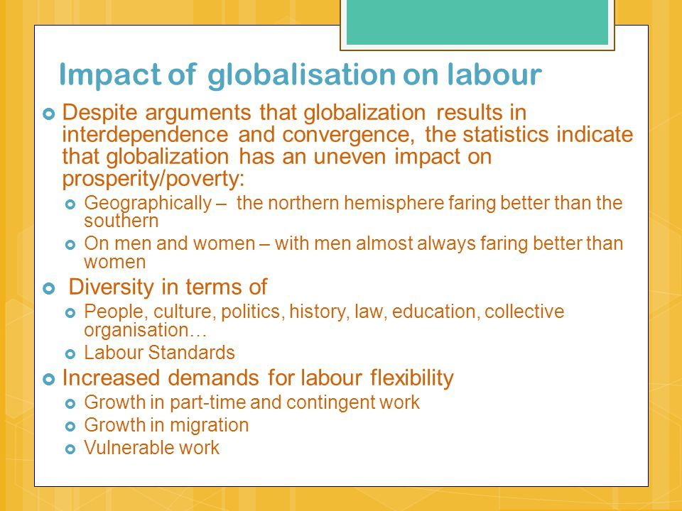 How does globalisation affect women?