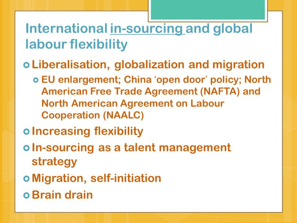 International in-sourcing and global labour flexibility