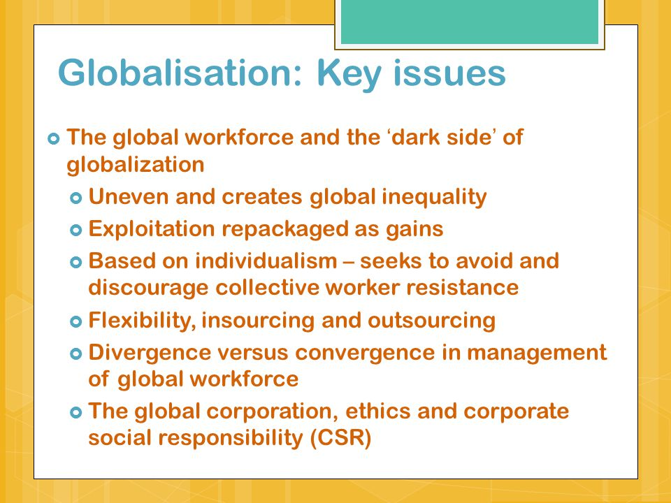 globalisation with social responsibility