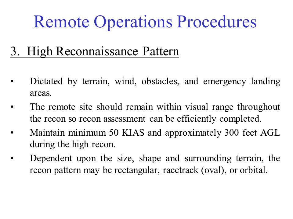 Remote Operations Procedures