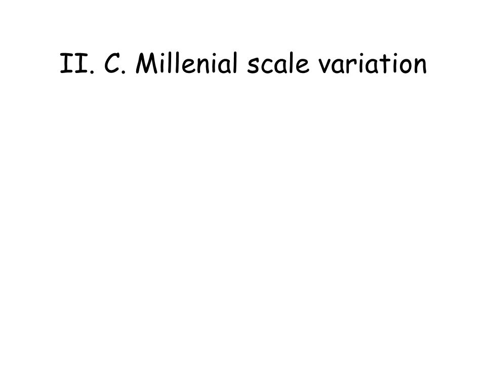 II. C. Millenial scale variation