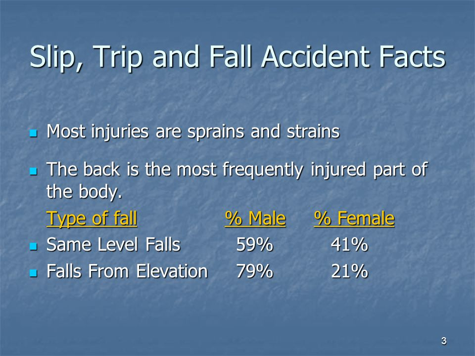 Slip, Trip and Fall Accident Facts
