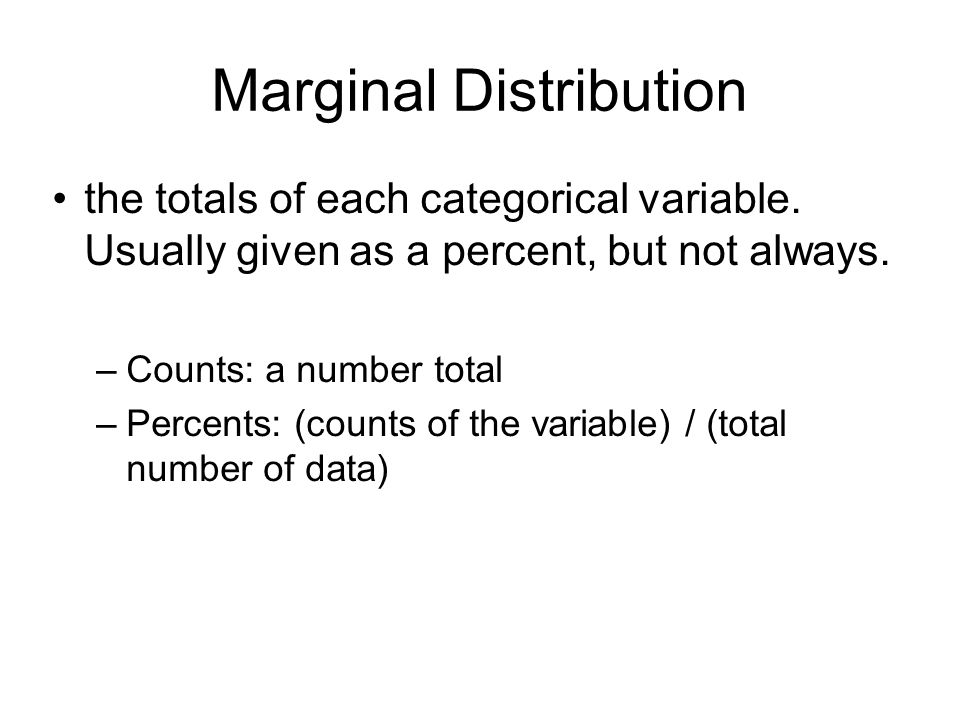 Marginal Distribution