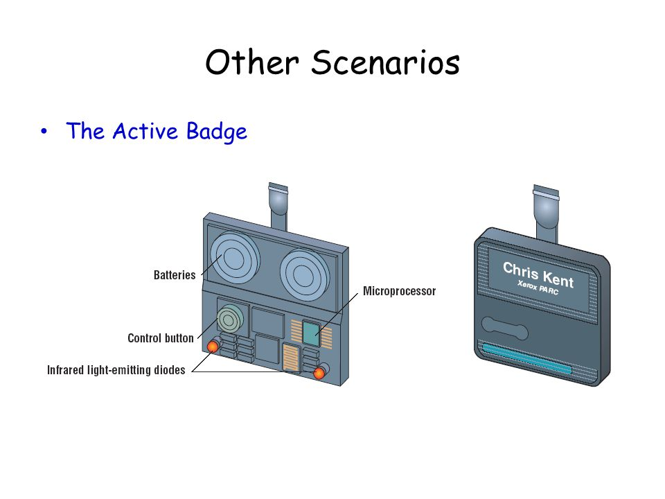 Other Scenarios The Active Badge