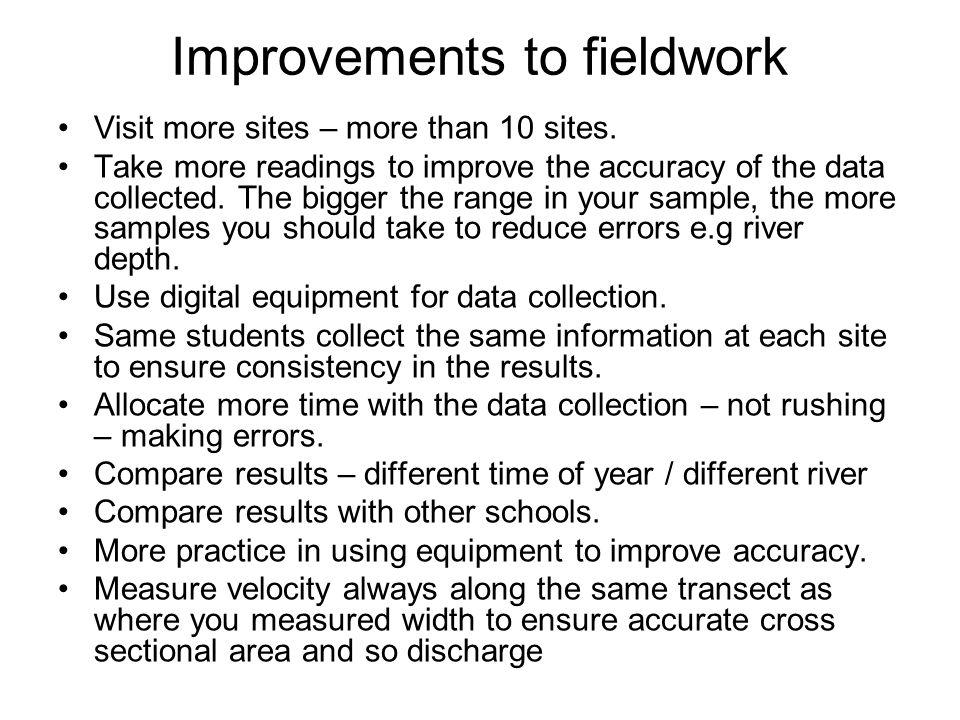 Improvements to fieldwork