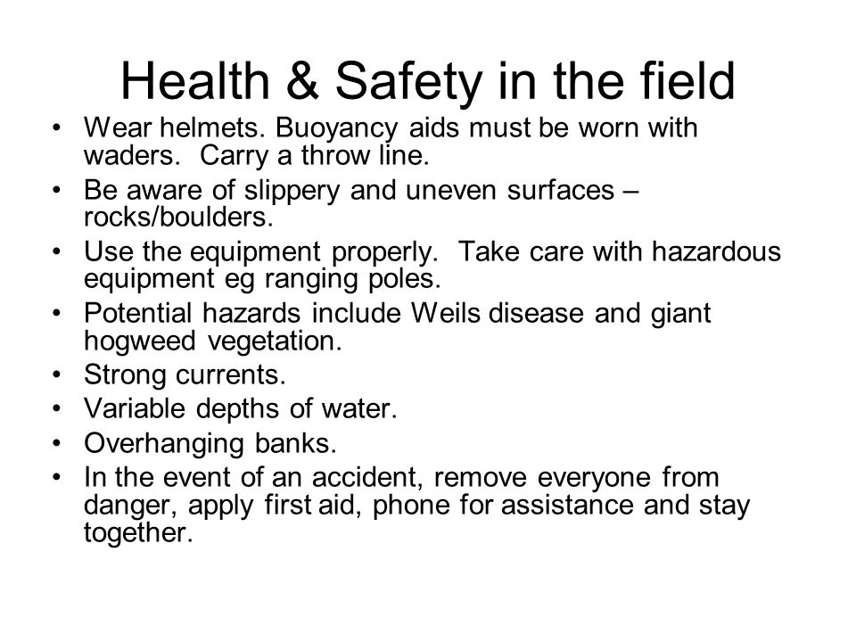 Health & Safety in the field