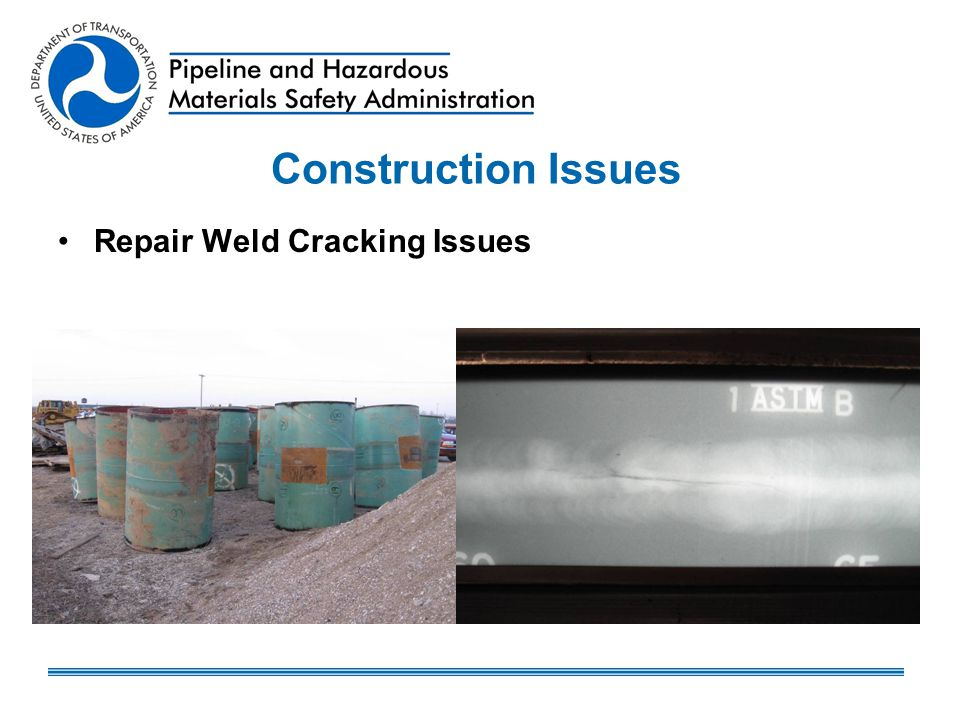 Construction Issues Repair Weld Cracking Issues