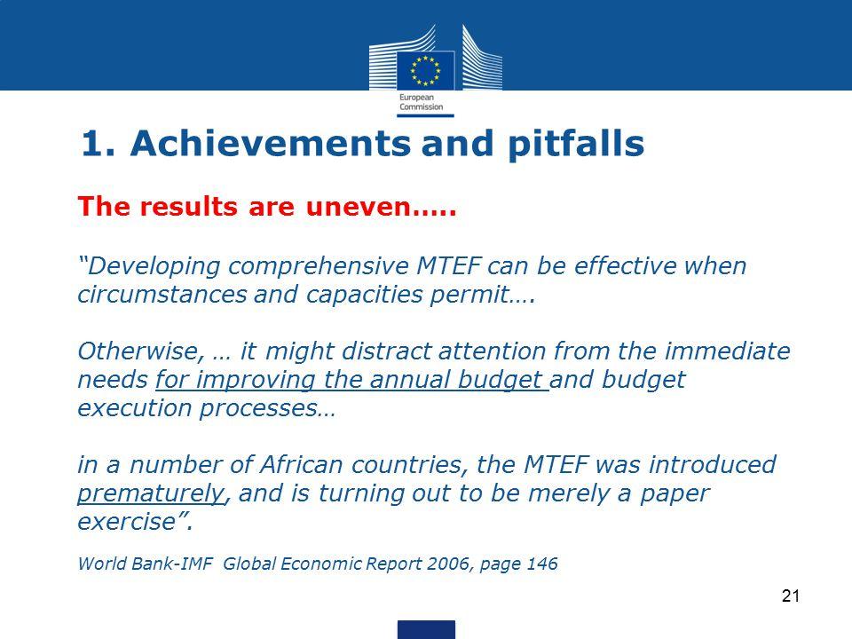 1. Achievements and pitfalls