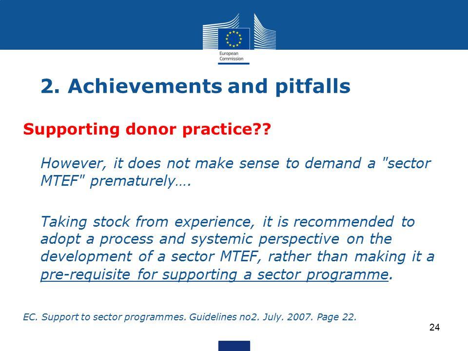 2. Achievements and pitfalls