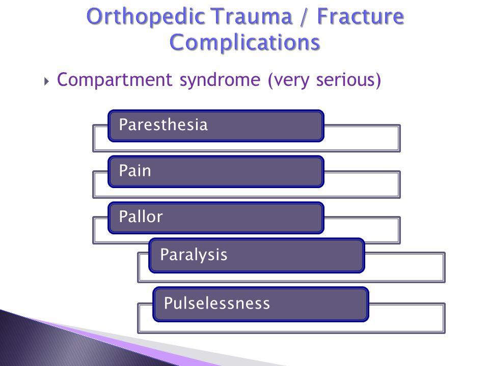 Orthopedic Trauma / Fracture Complications