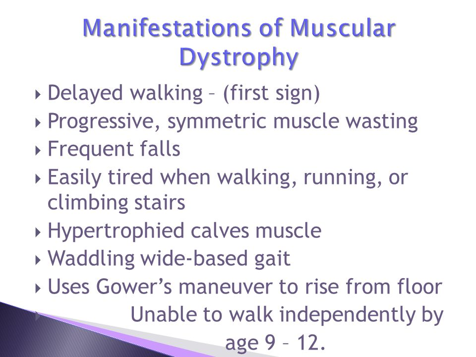 Manifestations of Muscular Dystrophy