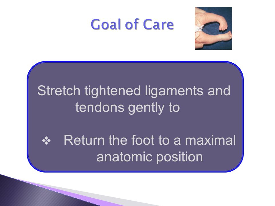 Return the foot to a maximal anatomic position