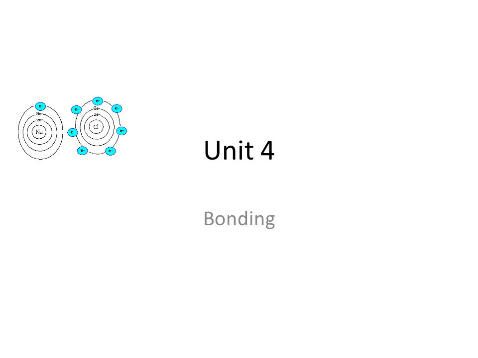 Unit 4 Bonding