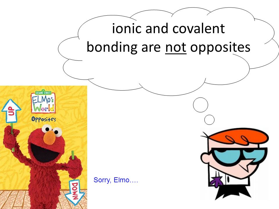 ionic and covalent bonding are not opposites