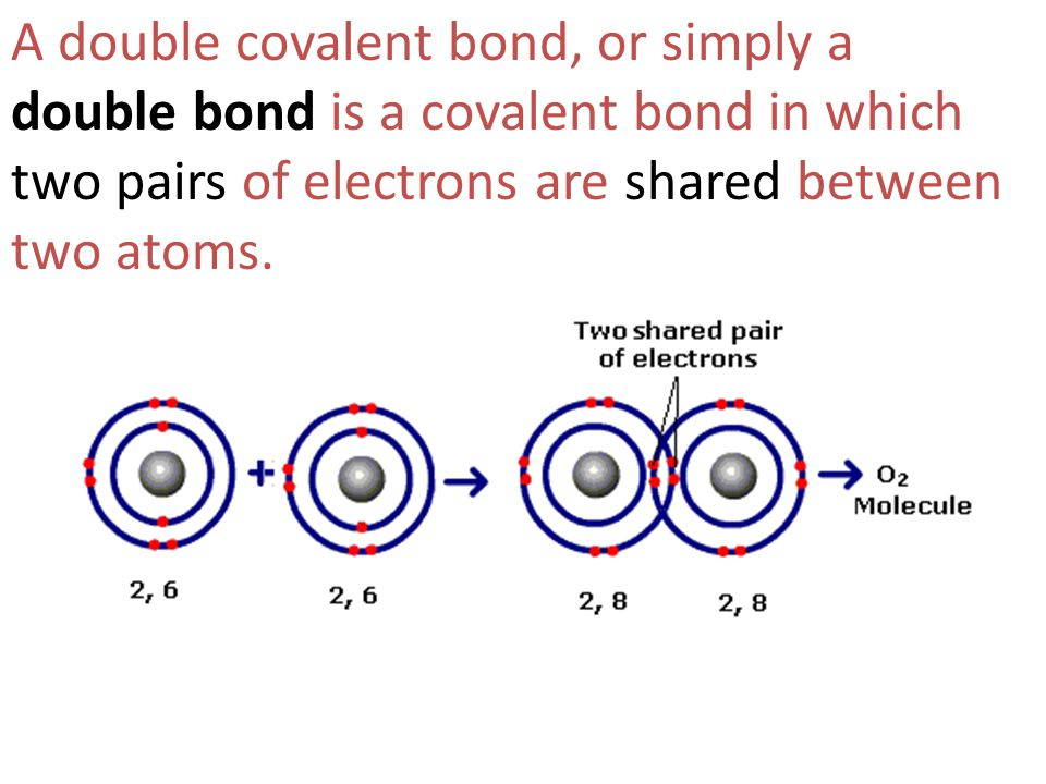 A double covalent bond, or simply a